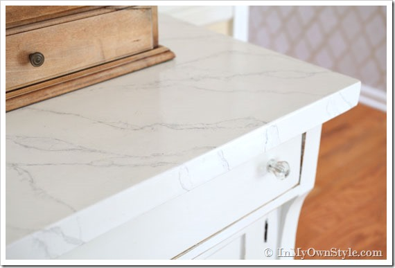 DIY Marble Countertop Yes, please! Great DIY countertop makeovers that are doable and affordable!