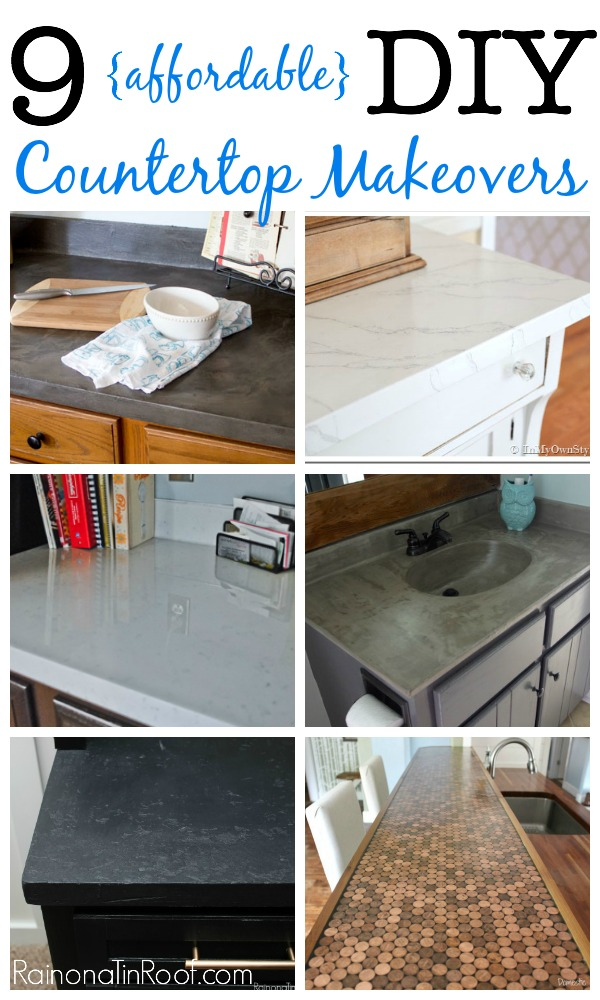 Affordable DIY Countertop Makeovers | DIY Countertop Redo | DIY Countertop Ideas | Countertop Redo | Countertops DIY | Countertop Ideas