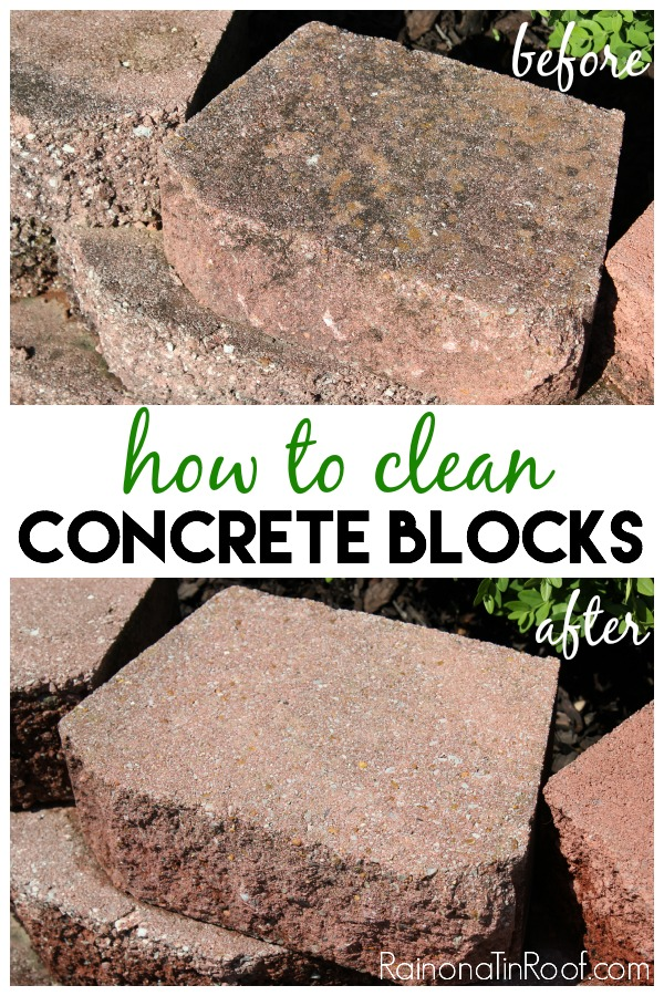 how to clean concrete blocks