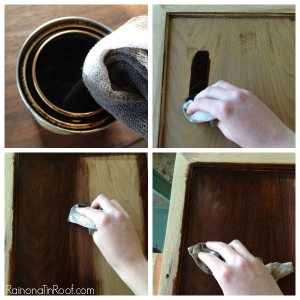 How to restain wood.