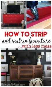 The least messiest way to strip furniture and then restain it. How to Strip Furniture and Restain It