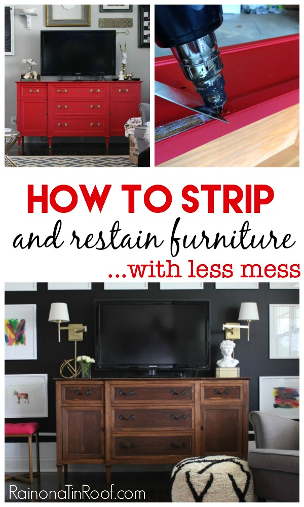 How To Strip Furniture and Restain It