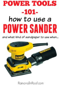 The basics of how to use a sander and what all it can do - How to Use a Sander