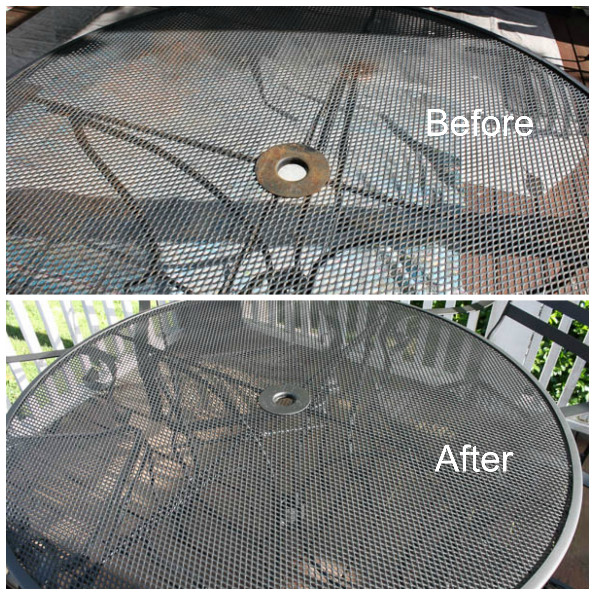 Metal outdoor furniture - Outdoor Metal Table Makeover