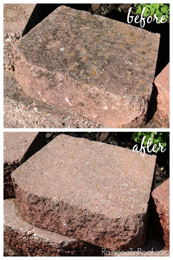 Easy way to clean up your concrete landscape blocks. 9 MUST READ Cleaning Tips!