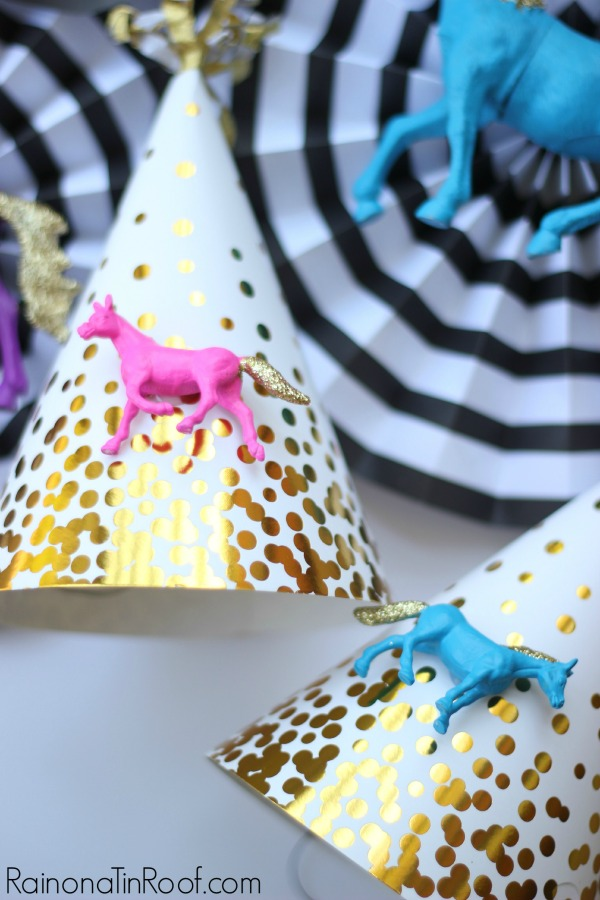 Get store bought party decoration items, then customize them to your theme! DIY Party Decorations