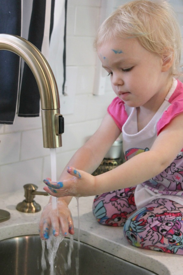 Clean up with the Delta Trinsic Touch2O Faucet!