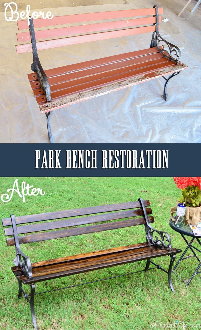 Park Bench Makeover