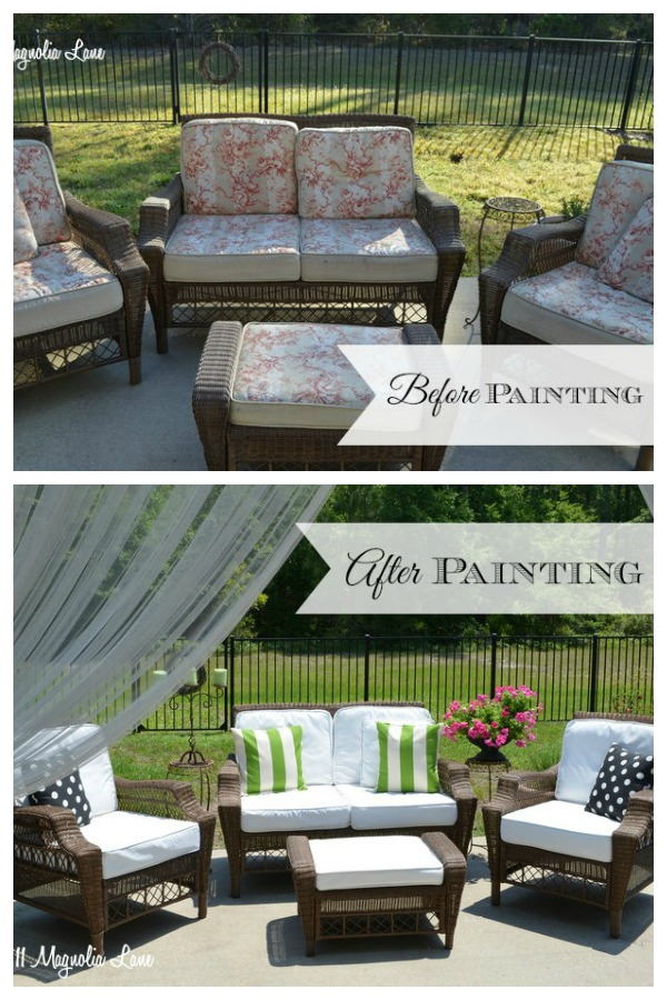 Painted Outdoor Cushions Painting Outdoor Cushions