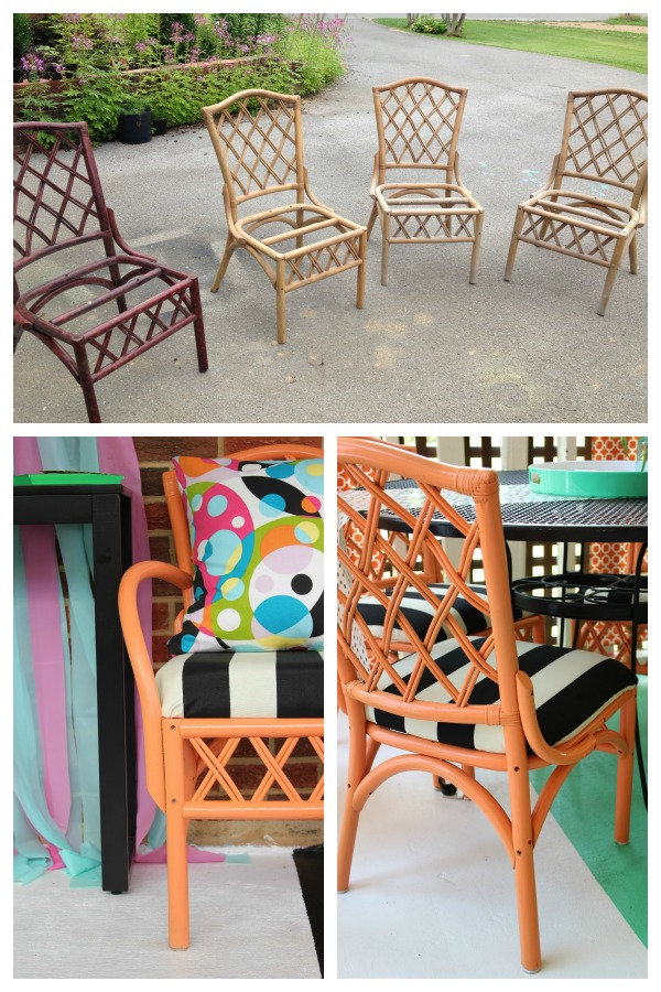 Bamboo Rattan Chair Makeovers Makeover