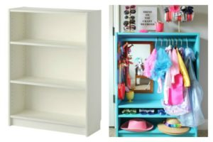 before-after-ikea-billy-bookcase-hack-diy-dress-up-closet