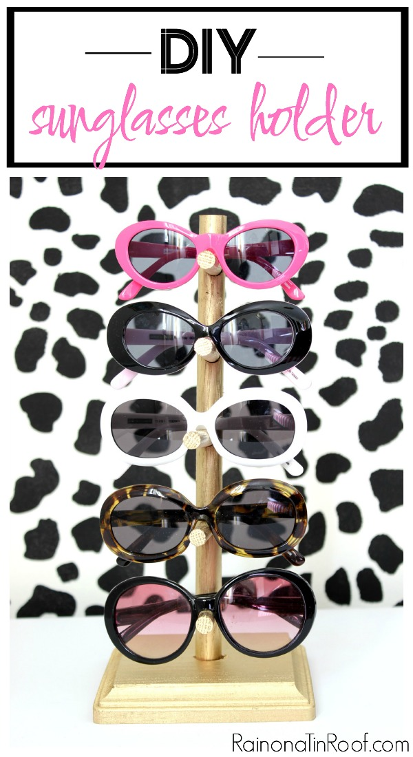 DIY Sunglasses Storage