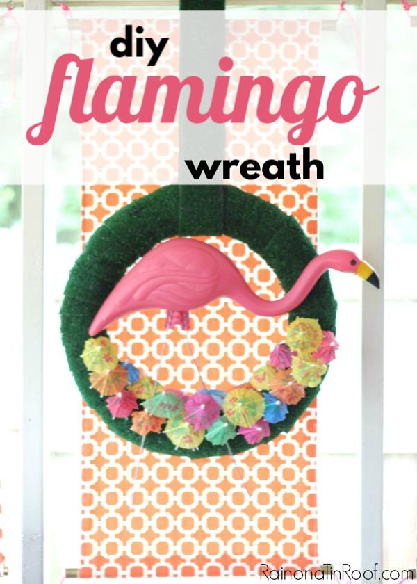 Flamingo Wreath for Summer