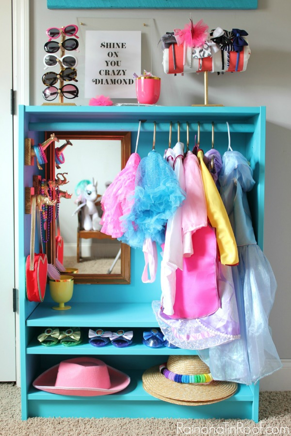 IKEA Hack / This DIY Dress Up Closet was made from an IKEA Billy Bookcase.