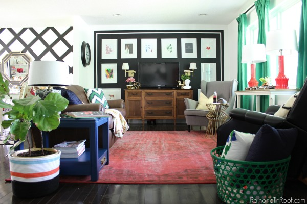 Eclectic but Modern Living Room. Summer Home Tour: The details make the space.
