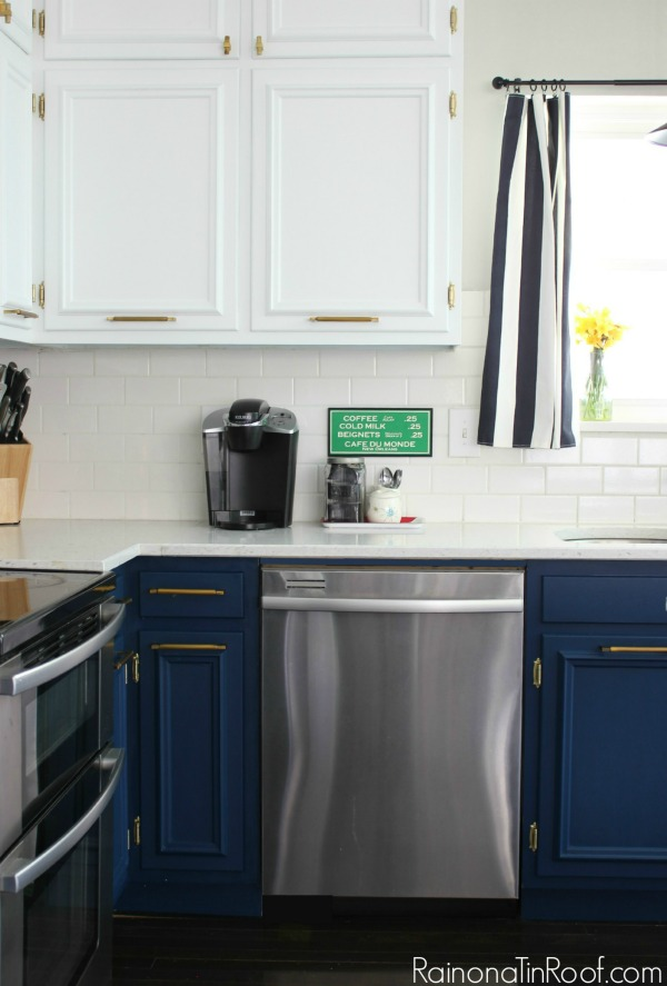 Navy and White Kitchen. Summer Home Tour: The details make the space.