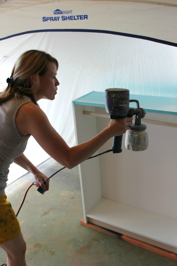 The easiest way to paint furniture - a HomeRight Finish Max Paint Sprayer.