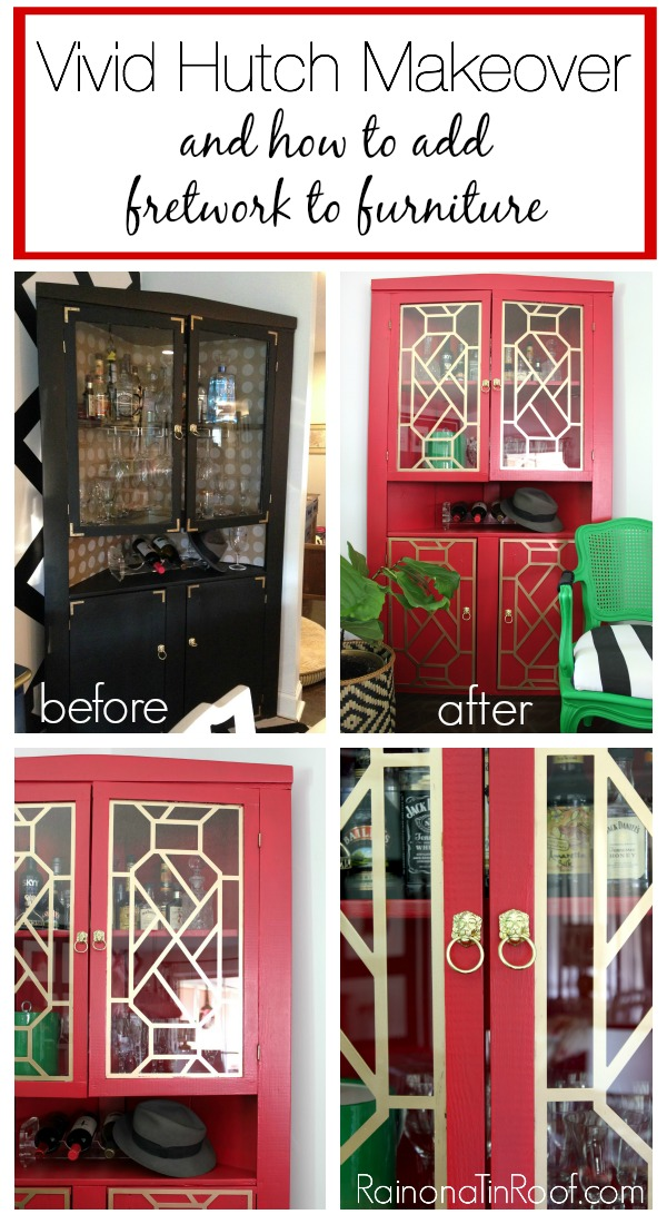 Liquor Cabinet Makeover Adding Fretwork To Furniture