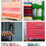 Bold and Beautiful Furniture Makeovers / Colorful Furniture Makeovers / Easy Furniture Makeovers