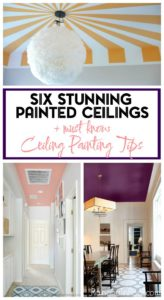 A pink ceiling with faux white moldings Rules for painting ceilings