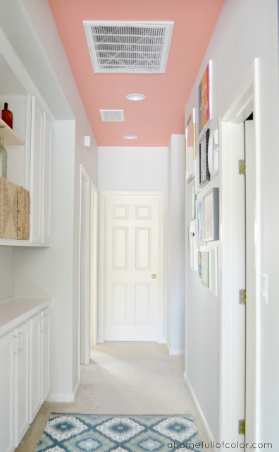 Coral Painted Ceiling • Painted Ceiling Designs • Tips for Painting Ceilings