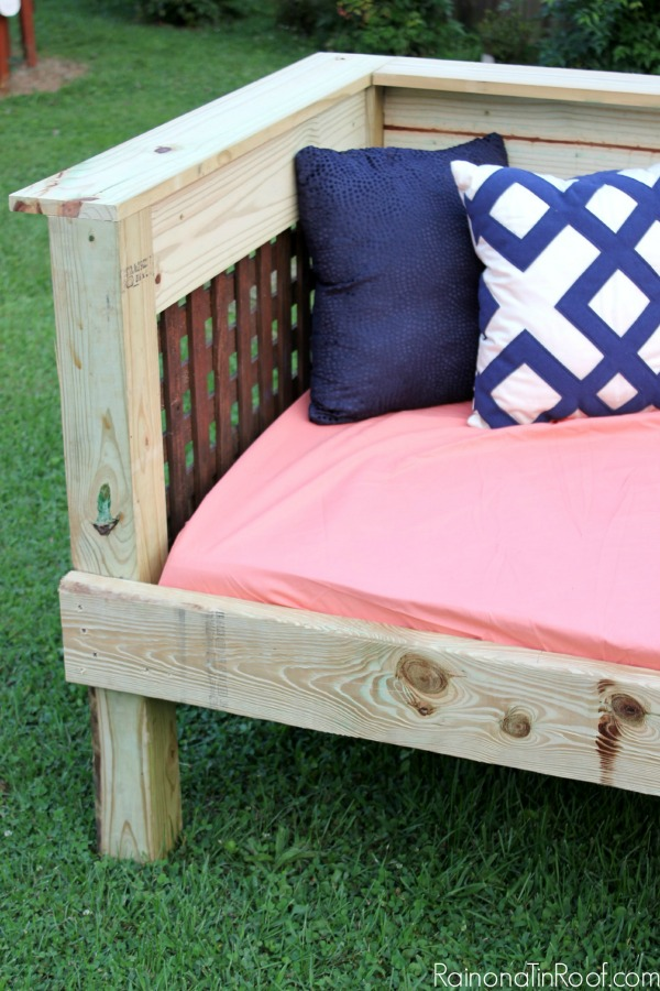 diy outdoor furniture couch storage underneath diy outdoor daybed simple build make it for 200 or less