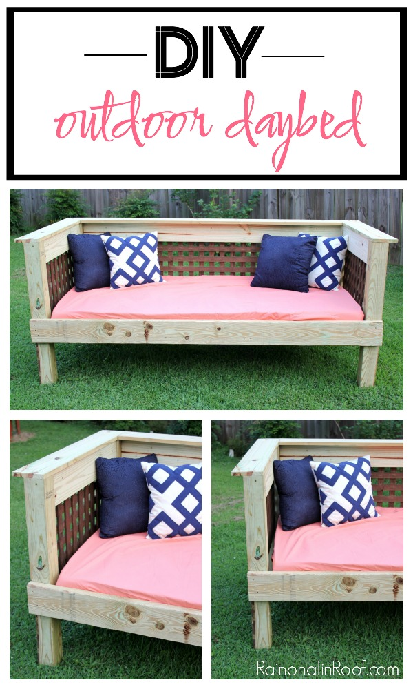 DIY Outdoor Daybed | Outdoor Furniture Plans | Outdoor Furniture DIY | Outdoor Furniture Ideas | DIY Outdoor Furniture | DIY Outdoor Bench