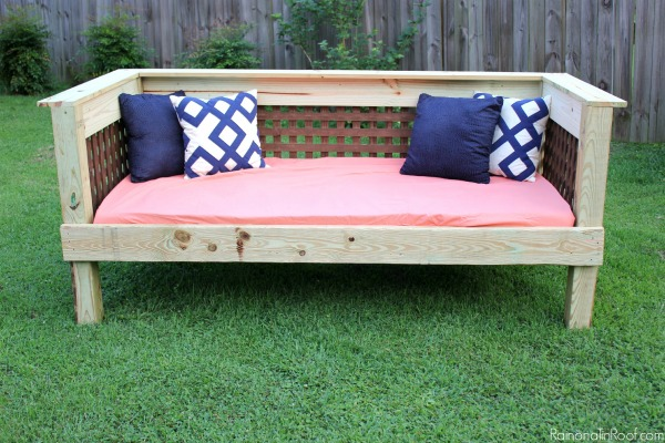 diy outdoor furniture couch wrap around diy outdoor daybed simple build make it for 200 or less