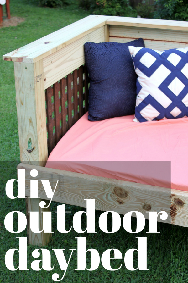 DIY Outdoor Daybed Tutorial that uses a twin mattress