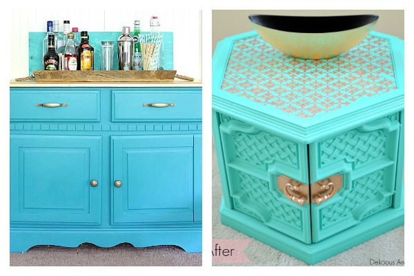 furniture makeovers. Bold And Beautiful Furniture Makeovers: Aqua Makeovers