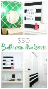 $50 Bathroom Makeover