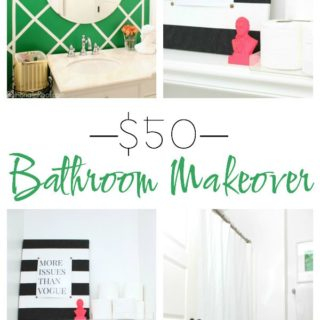 $50 Bathroom Makeover
