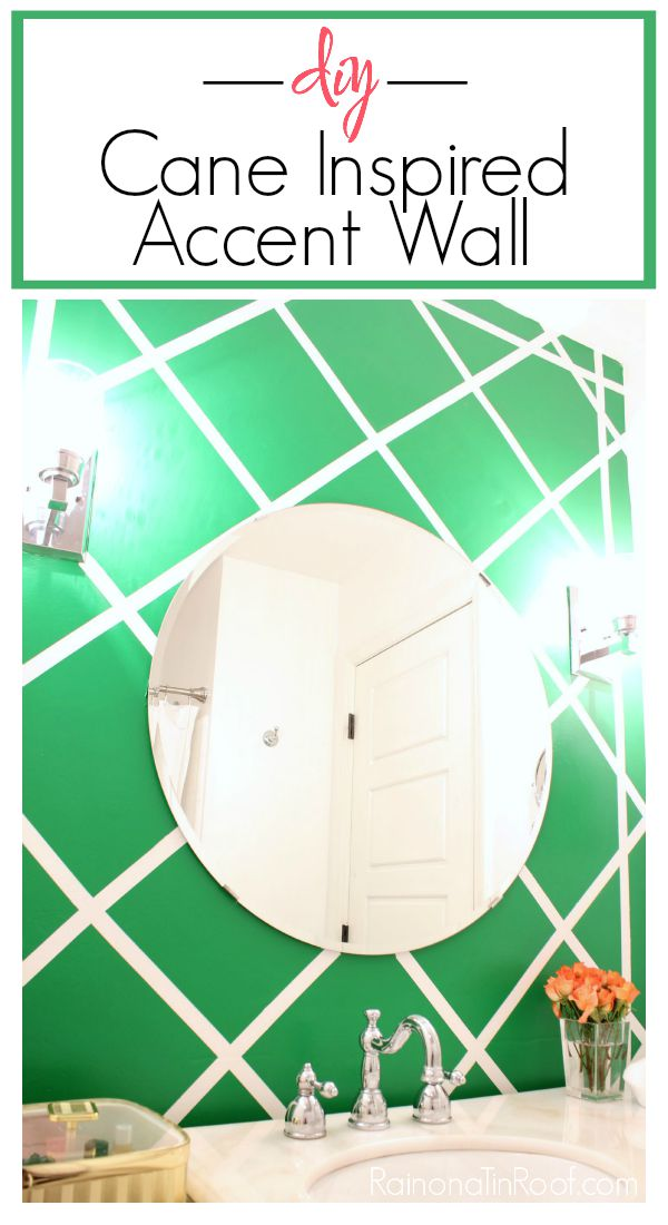 DIY Cane Pattern Accent Wall | Patterned Accent Wall DIY | Accent Wall Ideas | Accent Wall Bathroom | Feature Wall Ideas