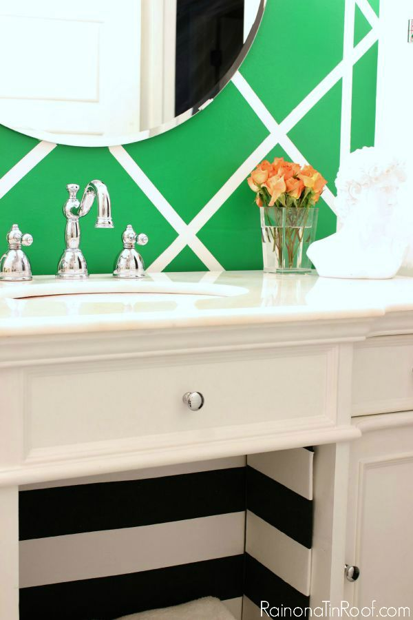 DIY Cane Inspired Accent Wall Done For Around 25 Gorgeous Kelly Green Treatment In