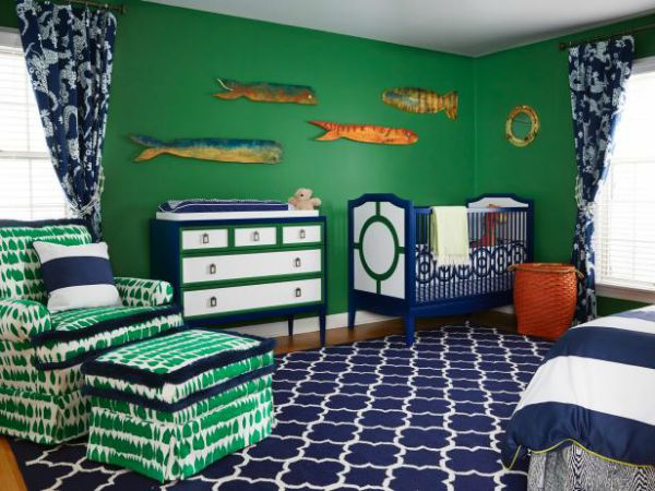 The Best Green Color Combinations For Decorating And Navy