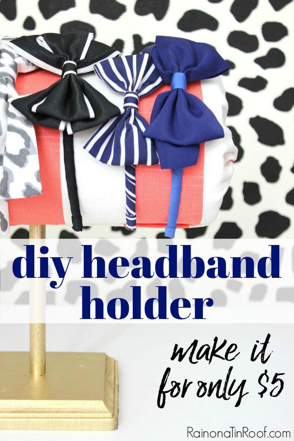 Headband Organizer DIY - hair accessories storage for little girls - Rain on a Tin Roof