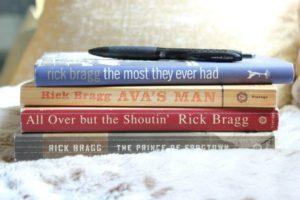 I write in books.