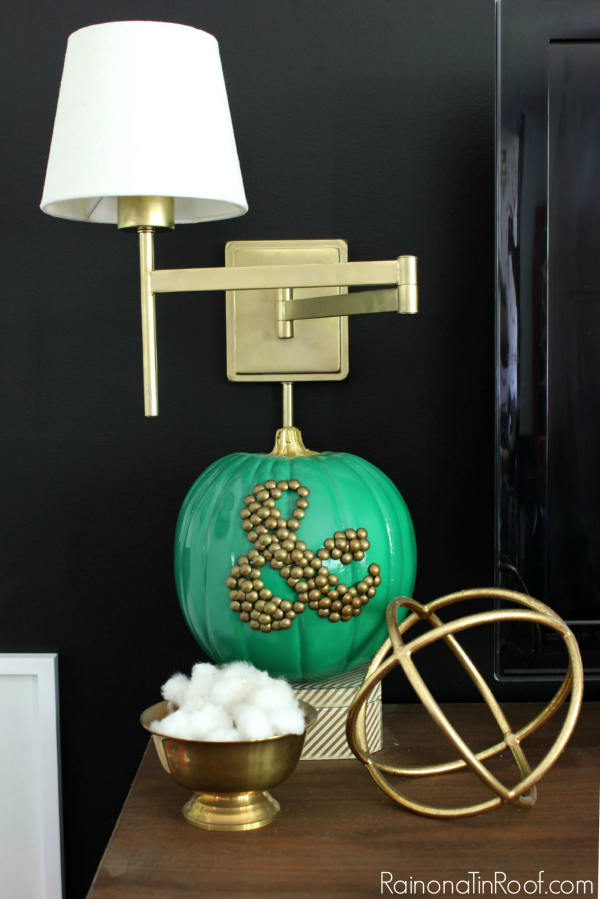 Fall Home Tour with simple fall decorating ideas / DIY Ampersand Pumpkin / Gold Sphere