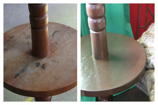How to Refinish Wood Furniture and Cover Stains Without Sanding or