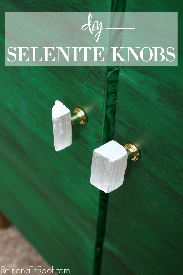 DIY Selenite Knobs | How to Make Custom Knobs for Furniture | DIY Stone Knobs | DIY Stone Pulls | How to Make Custom Furniture Pulls