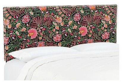 King Size Headboards for $300 or Less + Awesome Sources for all Sizes of Headboards - gorgeous selections and affordable! Floral Upholstered Headboard