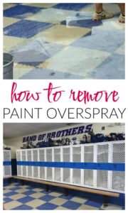 How to Remove Paint Overspray from Floors