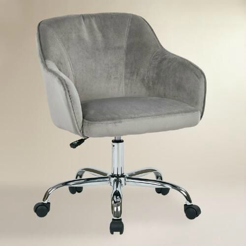 12 Stylish And Comfortable Office Chairs Gray Velvet Desk Chair