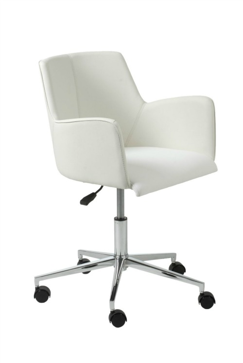 Stylish Comfortable Office Chairs White Leather