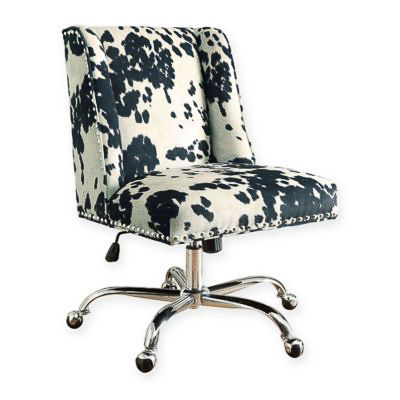 Cow Print Upholstered Office Chair