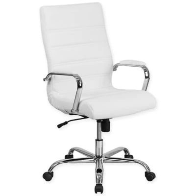 Stylish Office Chair - White and Silver