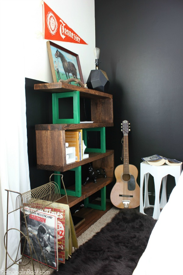 Diy modern rustic bookshelf for Diy modern bookshelf