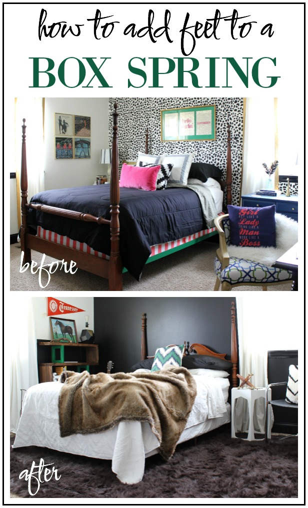 How To Add Feet To A Box Spring