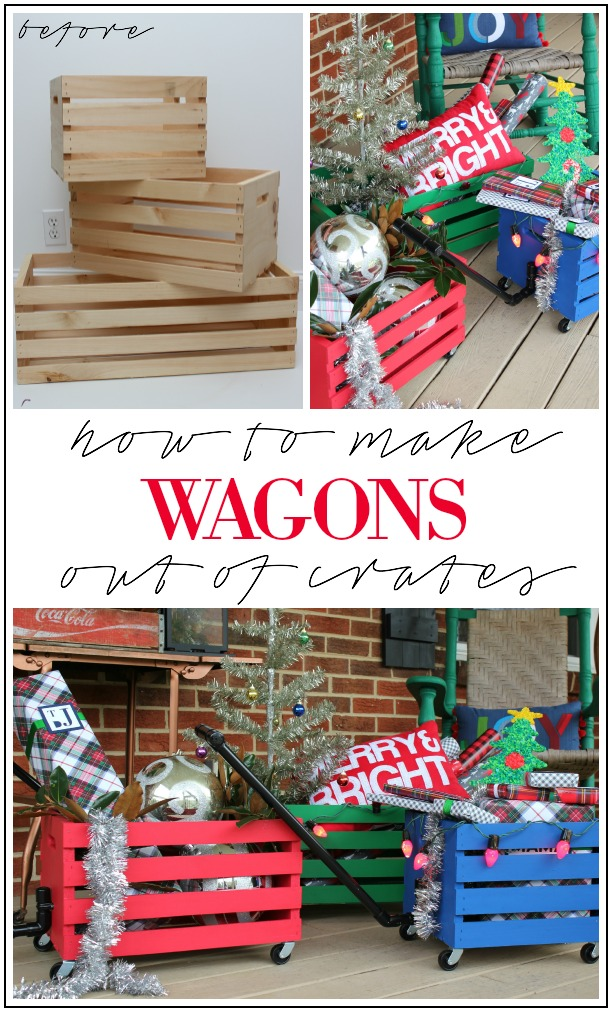 How to Make Wagons Out of Crates | Crate Projects DIY | Things to Do with Crates DIY Projects | Projects with Crates