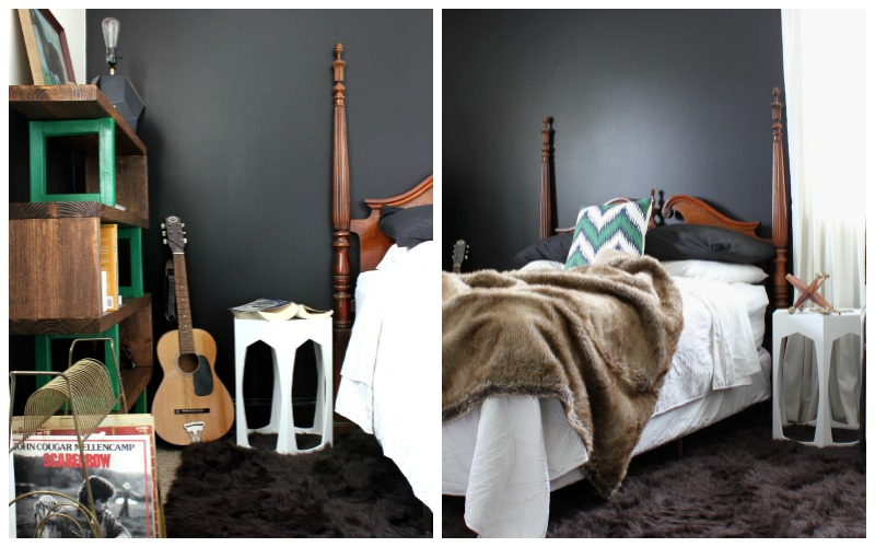 Masculine Bedroom and Office Makeover